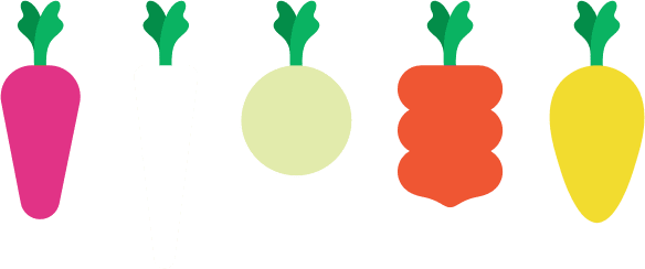 Graphic of different shaped Carrots